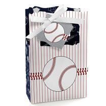 Batter Up - Baseball - Baby Shower or Birthday Party Favor Boxes - Set of 12