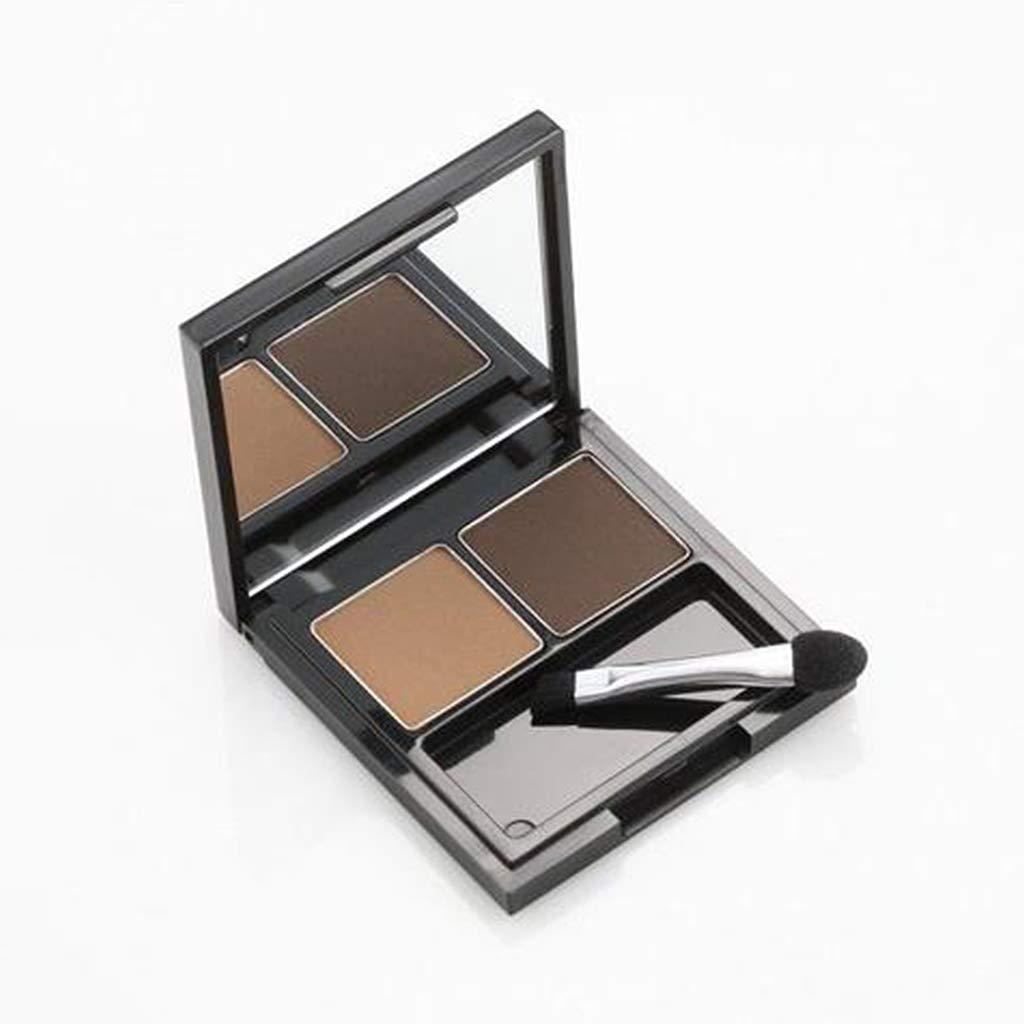 SKIN FOOD Choco Eyebrow Powder Cake (#2 Grey Brown) - Eyebrow Powder Duo, Natural Eyebroow Makeup, Natural Cacao Elemnet Contained