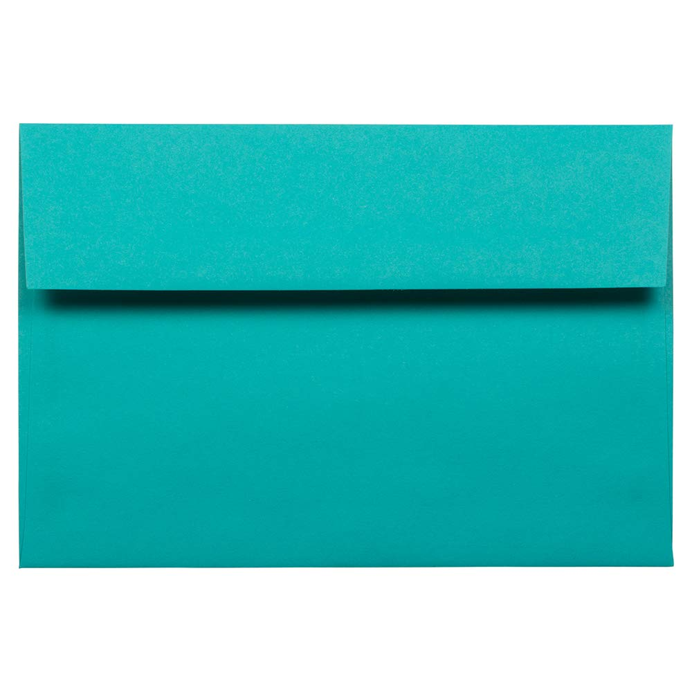 JAM PAPER A8 Colored Invitation Envelopes - 5 1/2 x 8 1/8 - Sea Blue Recycled - 25/Pack