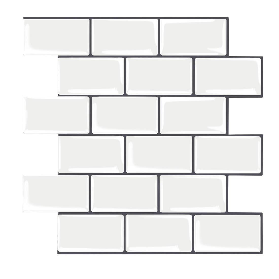 """12""""X12"""" Peel and Stick Backsplash for Kitchen, Self-Adhesive Tiles Stick on Backsplash, Peel and Stick Subway Tile (Pack of 5, Thicker Version)"""