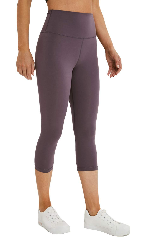 Lavento Women's Yoga Capris Pants High Waist Tummy Control Workout Tights
