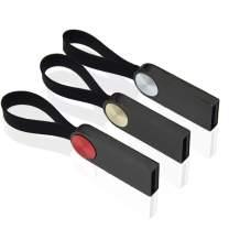 16GB Thumb Drive Pack of 3 Mini USB 2.0 Flash Drive, Kepmem Metal Jump Drive Keychain Memory Stick Bulk, 16 GB Zip Drive Portable U Disks