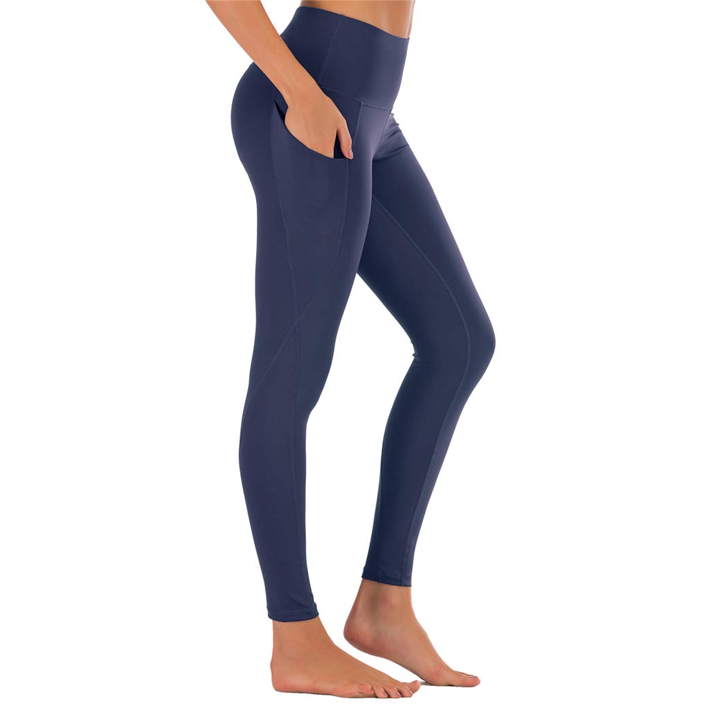 Hardcraft Leggings for Women High Waist Yoga Pants Pockets Workout Gym Running Fitness Sports Pant Plus Size