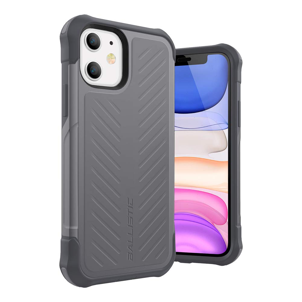 Ballistic iPhone 11 Case, Military Grade Drop Tested Rugged Protective Case for iPhone 11 6.1 [Tough Jacket Series] Gray