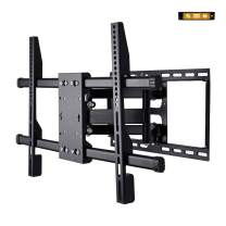 CNYF TS001-L TV Wall Mount Bracket Full Motion Dual Articulating Arm for Most 37-70 Inch LED, LCD, OLED, Flat Screen,Plasma TVs up to 132lbs VESA 600x400mm with Tilt, Swivel and Rotation
