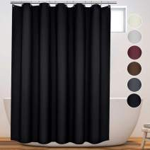 Eforcurtain European Style Insulated Blackout Cloth Bath Curtain Water Resistant for Adults with Hooks, Heavy Weight Upscale Shower Curtain for Home 72 by 75 Inches X Long