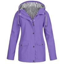 vkjany Plus Size Women Raincoat Waterproof Jacket Sunscreen Outdoor Sportswear Jacket Coat
