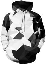 FLYCHEN Boy's Fashion Funny Print Hoodies Unisex Teens Hooded Pullover Sweatshirt