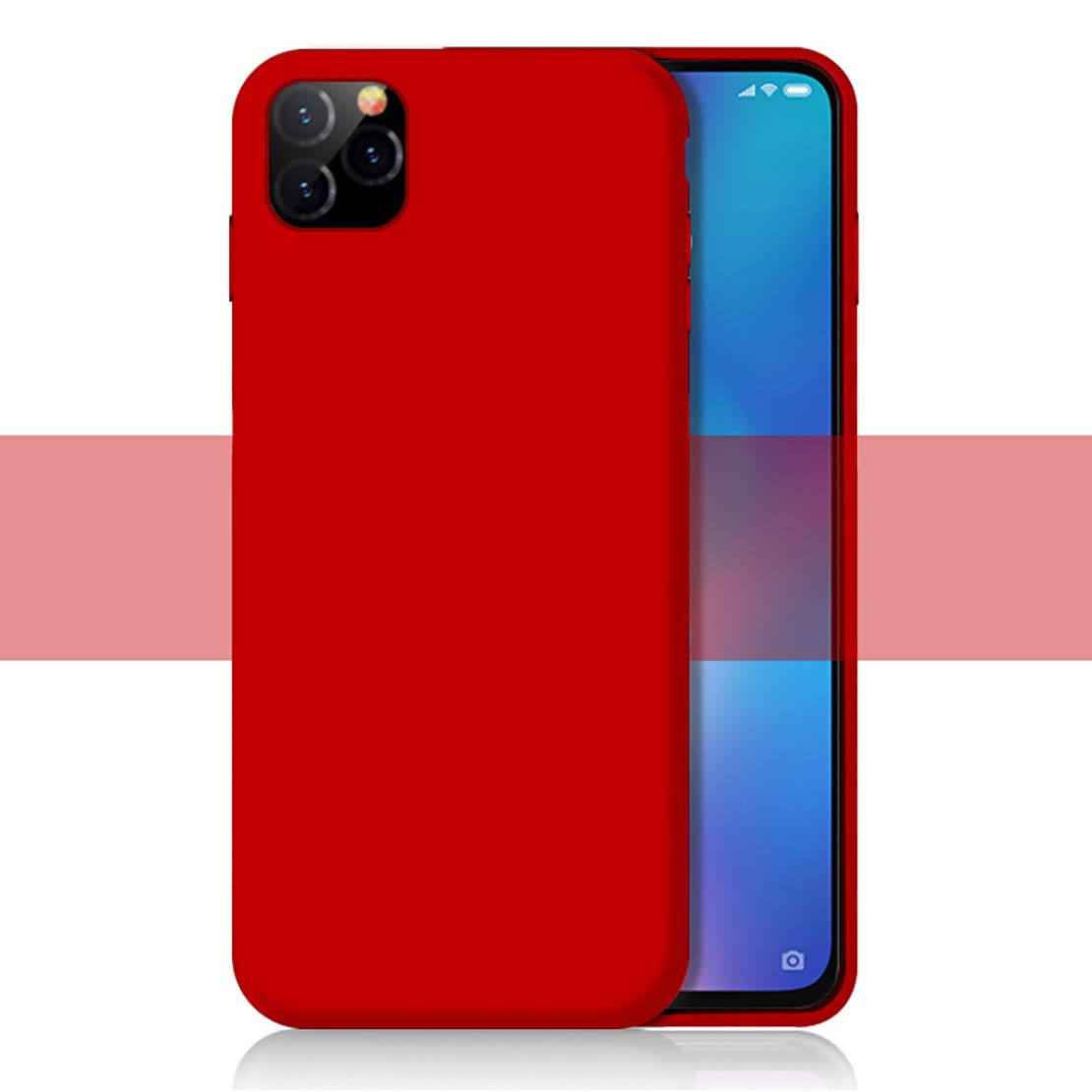 LANYOS Compatible iPhone 11 Case, Slim Fit Liquid Silicone Gel Rubber Case with Soft Microfiber Cloth Lining Cushion (6.1 inch 2019) (Red)