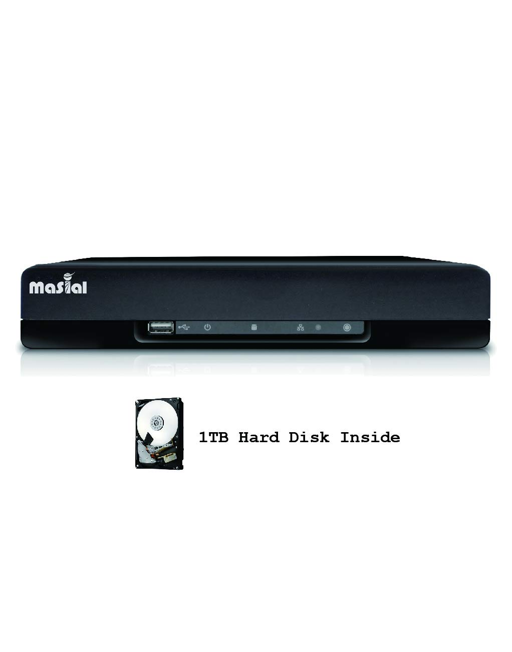 Masial 8 Channels HD 1080P Security DVR CCTV Motion Detection Digital Recorder, Supports HDCVI/TVI/AHD/960H/IP, Remote Smartphone Access(1TB Hard Disk pre-Installed)