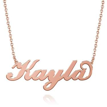 Personalized Boy and Girl Charms Necklace Silver or Gold plated