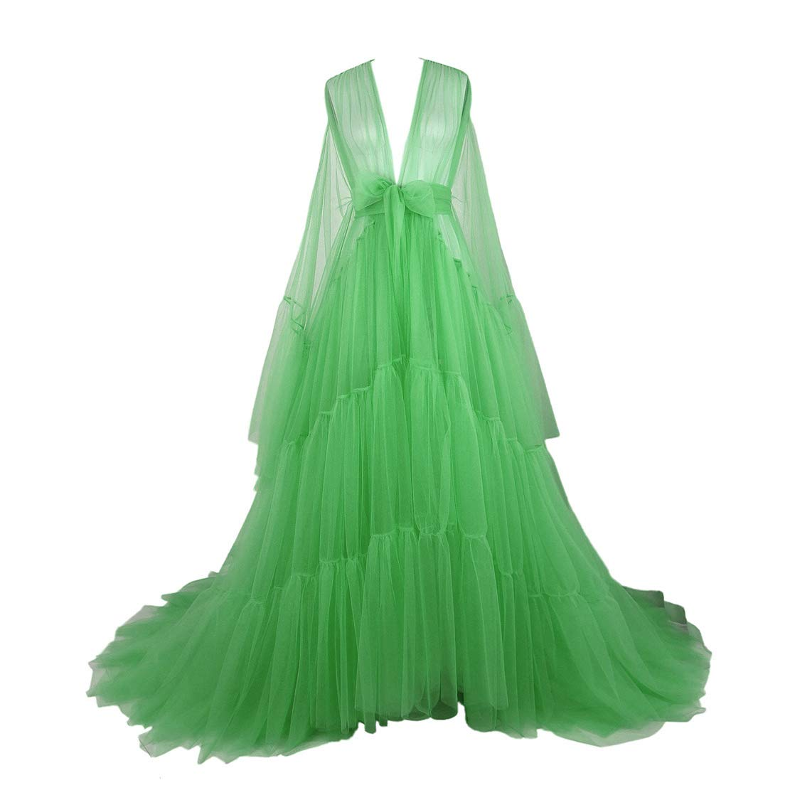 Tulle Dressing Gown Hollywood Robe Performance Chic Outfit Drag Queen Photography Dress