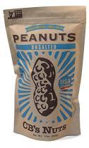 CB's Nuts USA Grown Non-GMO Unsalted Peanuts, 12oz