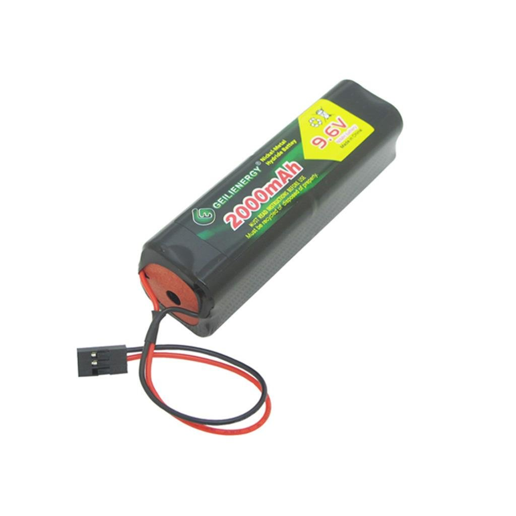 Geilienergy 9.6v 2000mAh Square Futaba NT8S600B Transmiter Battery Pack with Hitec Connector for RC Airplanes,Cars,Heli,Sailplanes