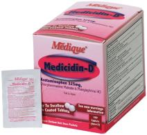 Medique Products 12033 Medicidin-D, 50-Packets of 2, Cold and Allergy Relief