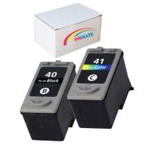 INKMATE Compatible Ink Cartridge Replacement for PG40 CL41 for Canon PIXMA MP210 MP450 MP460 MP470 IP2200 IP2400 IP2500 Black Color 2 Pack