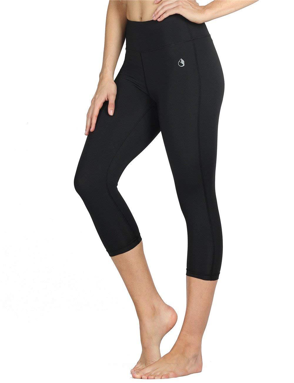 icyzone Women Workout Clothes Athletic Leggings Capri Activewear Hot Yoga Pants