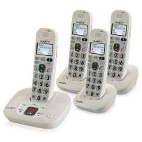 Clarity D714 Moderate Hearing Loss Cordless Phone with D704HS Expandable Handsets (D714 with (3) D704HS)