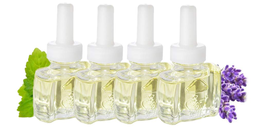 (4 Pack) Scent Fill Vanilla Patchouli Plug in Refill - Fits Air Wick®, and More