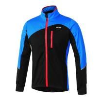 Lixada Men's Cycling Jacket Windproof Breathable Lightweight Long Sleeve Bicycle Jersey Coat Reflective Warm Thermal Water-Resistant MTB Mountain Bike Road Bike Jacket