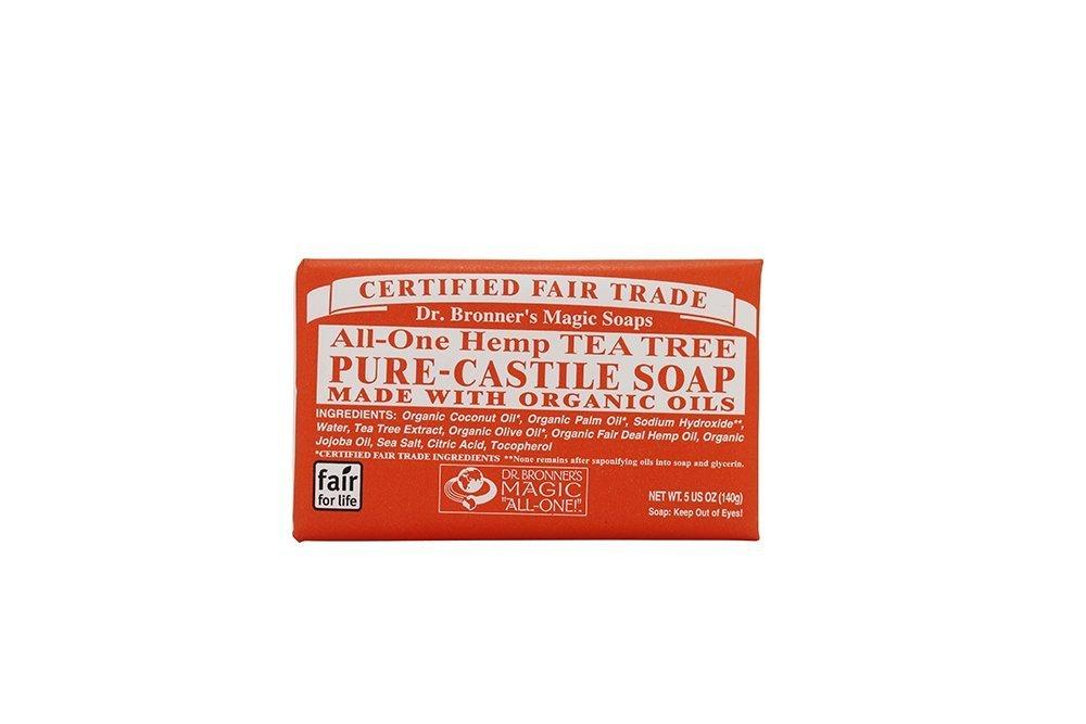 Dr. Bronner All-One Hemp Tea Tree Pure-Castle Bar Soap Net Wt 5oz