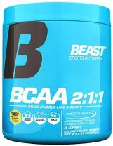 Beast BCAA Branched Chain Amino Acids Powder I Boost Muscle Growth & Recovery I 5 Grams of Premium BCAA Instantized Formula I Increased Protein Synthesis I Tropical Breeze 30 Servings