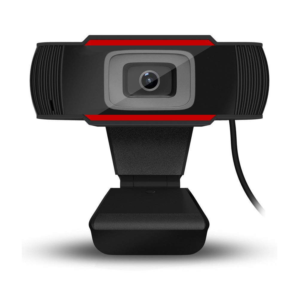 HD Webcam 1080P Streaming Web Camera with Microphones, USB Computer Camera for Mac Xbox YouTube, Autofocus Webcam for Conferencing, Laptop or Desktop Webcam, Free-Driver Installation-Red