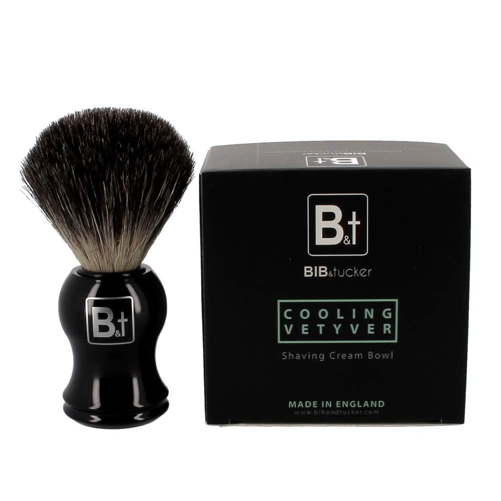 Cooling Vetyver Shaving Cream & Pure Badger Brush – Bib & Tucker, Men Shave Care