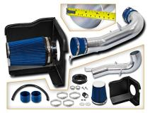Cold Air Intake System with Heat Shield Kit + Filter Combo BLUE Compatible For 07-08 Cadillac Escalade 5.3L/6.0L