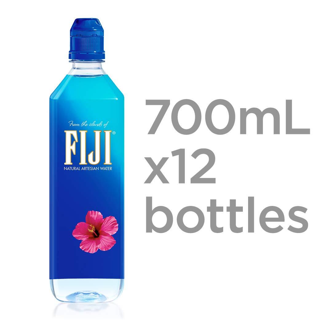 FIJI Natural Artesian Water, 700mL Sports Cap Bottle (Pack of 12)