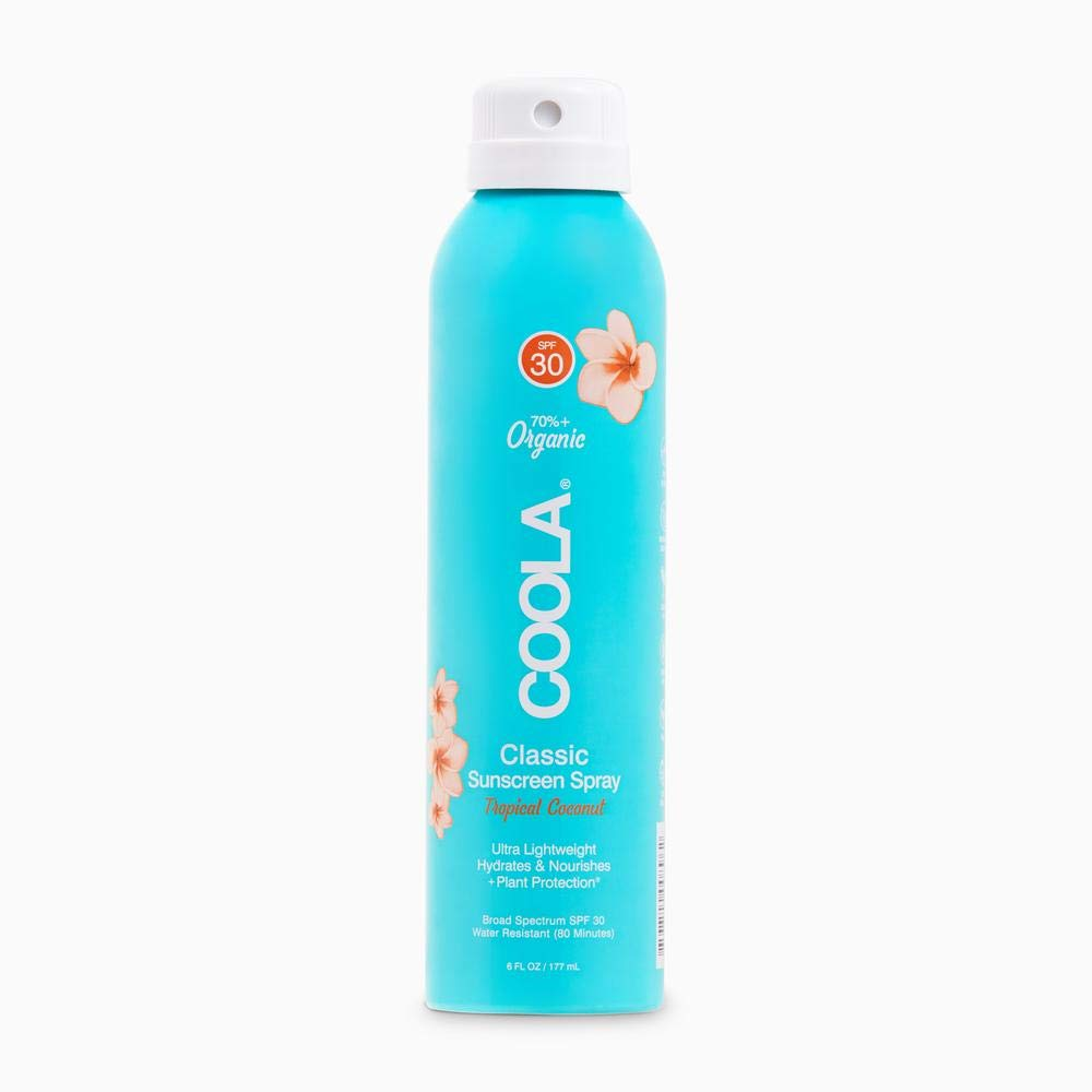 COOLA Organic Sunscreen Body Spray, Broad Spectrum SPF 30, Reef-Safe, Tropical Coconut