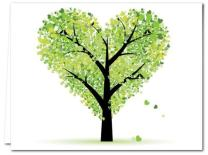 Note Card Cafe All Occasion Greeting Cards with Kraft Envelopes | 72 Pack | Tree of Love Design | Blank Inside, Glossy Finish | for Greeting Cards, Occasions, Birthdays