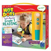 Educational Insights Hot Dots Let's Master 1st Grade Reading Set, Homeschool, 2 Books & Interactive Pen, 100 Math Lessons, Ages 6+