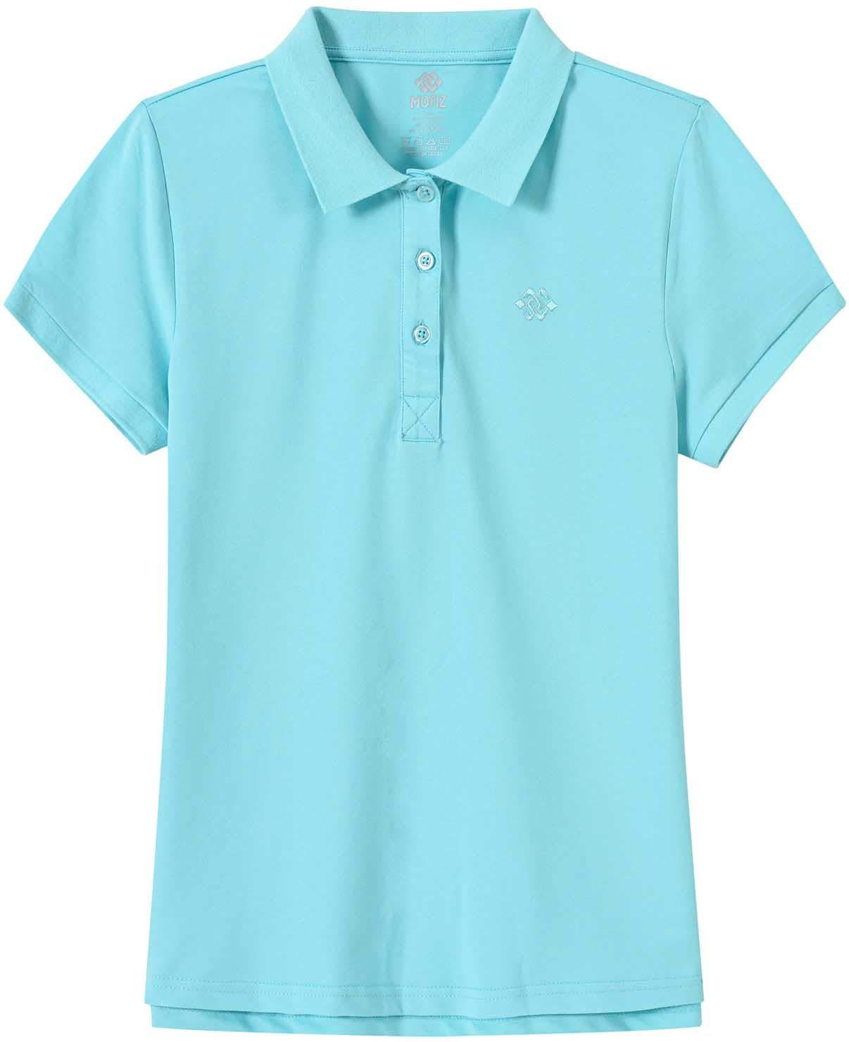 AjezMax Womens Polo Shirt Golf Sport Short Basic Quick Dry Shirt Casual