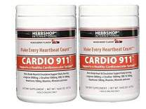 Cardio 911 L-arginine and L-citrulline, Nitric Oxide Supplement, Mixed Berry Flavor, Pack of 2