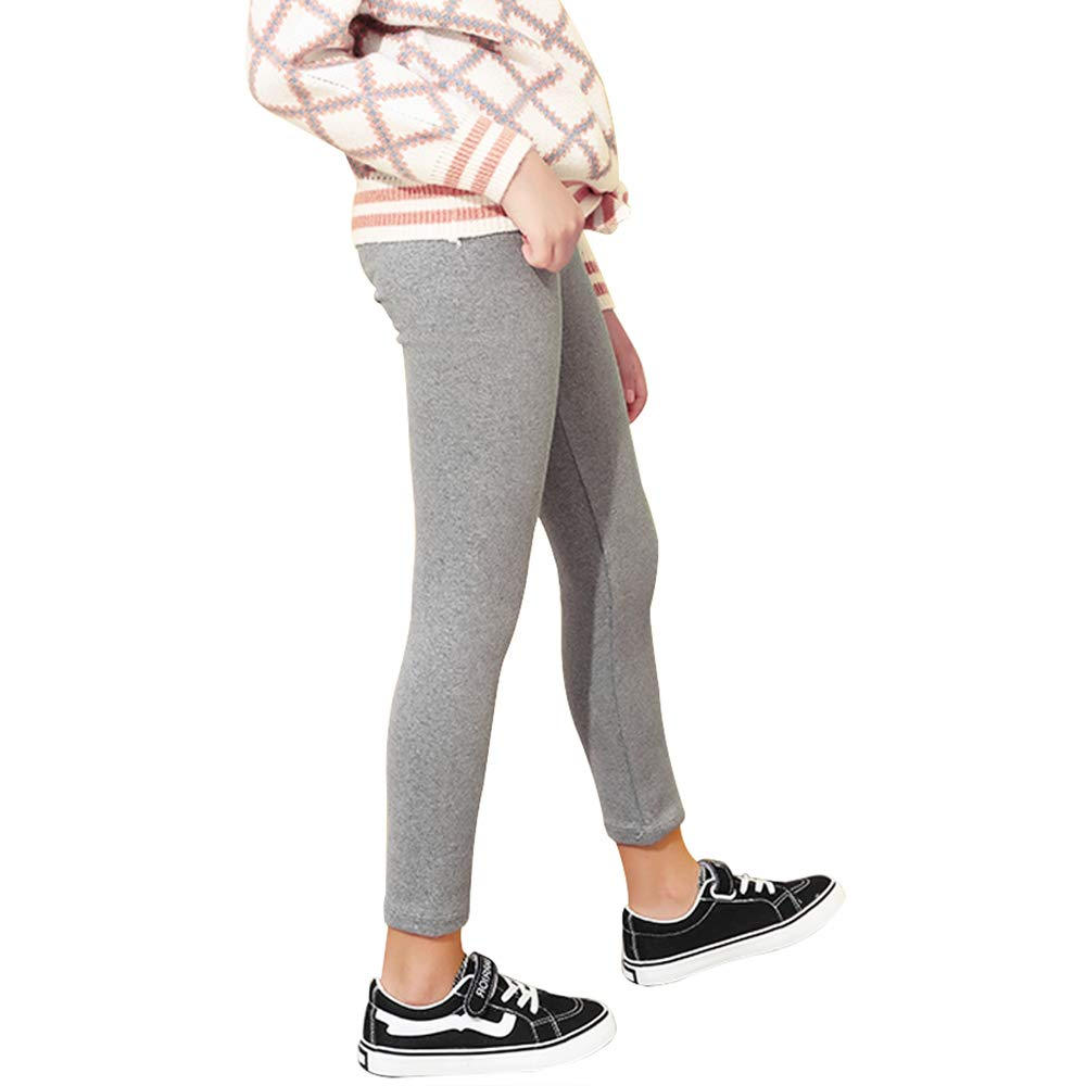 iLover Girls Stretch Leggings Tights Kids Pants Plain Full Length Children Trousers Age 4-13 Years