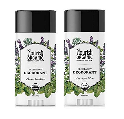 Nourish Organic Stick Deodorant, 100% Natural, Lavender Mint, 2 Count