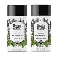 Nourish Organic Stick Deodorant, 100% Natural, Lavender Mint, 2 Count