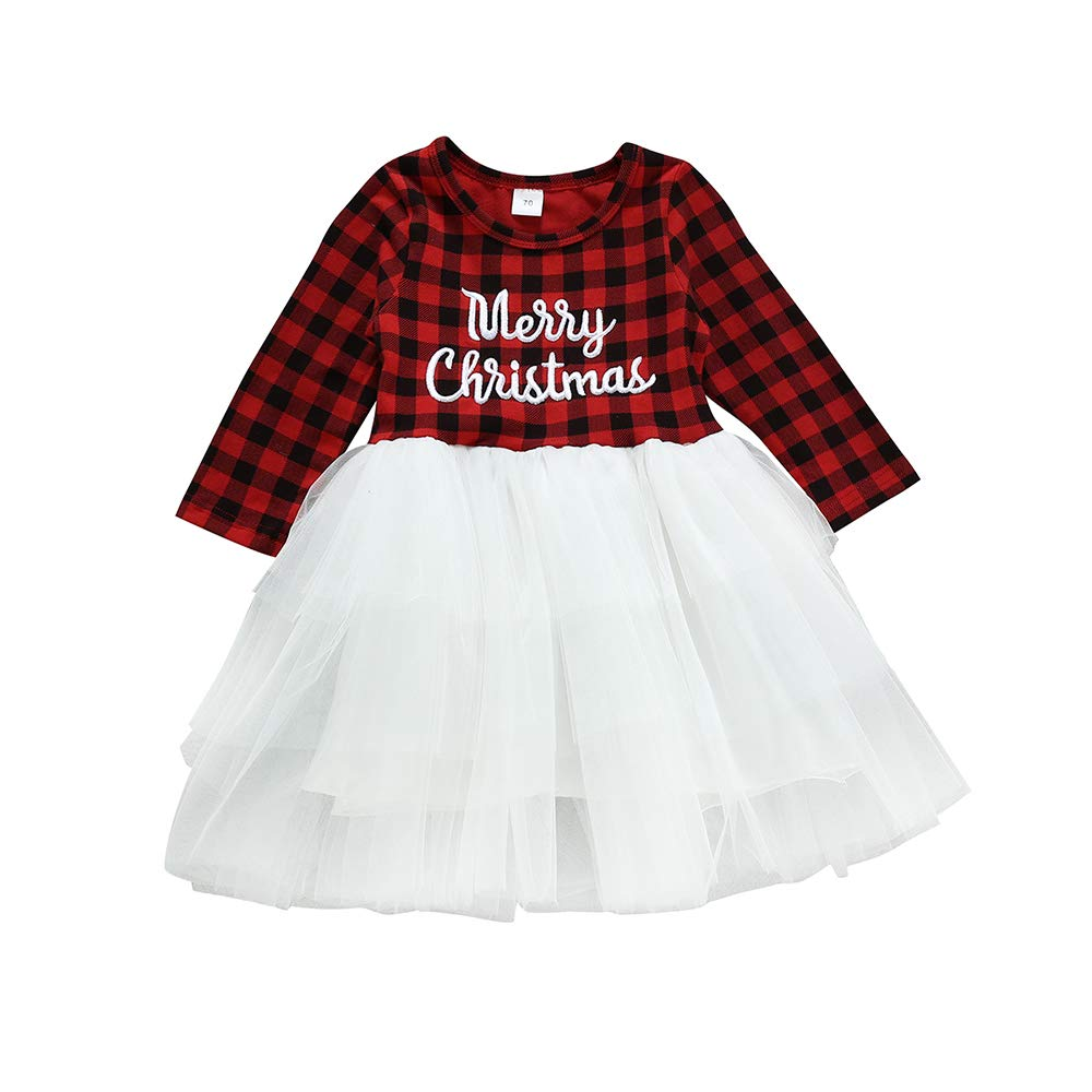 4Pcs Newborn Baby Girl Clothes My 1st Christmas Bodysuit+Dot Tutu Skirt+Leg Warmers+Sequins Bow Headband Outfits Set