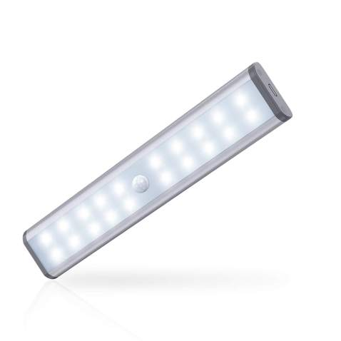 Led Motion Sensor COB Night Light 20LED Bulbs Closet Cabinet Lamp Rechargeable