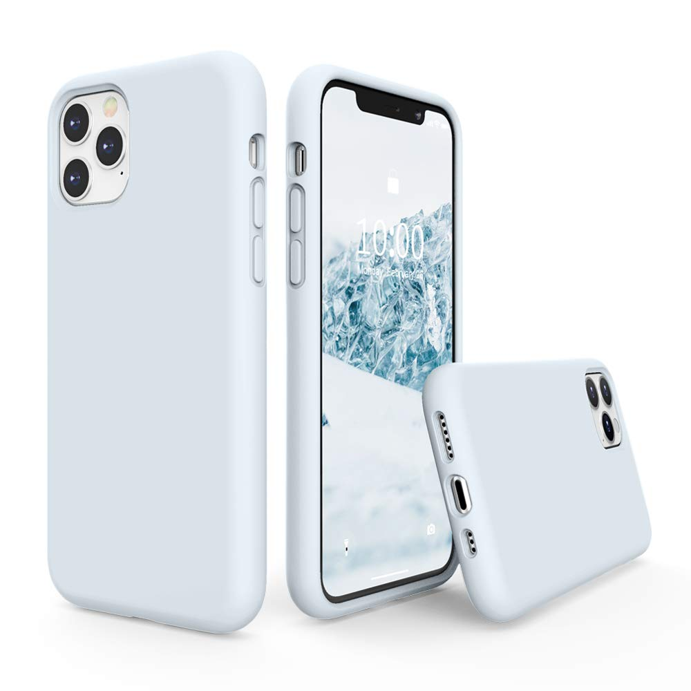 SURPHY Silicone Case Compatible with iPhone 11 Pro Case 5.8 inch, Liquid Silicone Full Body Thickening Design Phone Case (with Microfiber Lining) for iPhone 11 Pro 5.8 2019 (Sky Blue)