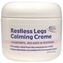 Restless Legs Calming Creme to Help Combat Fatigue, Irritability, Itching, Crawling, Shaking by Miracle Plus (4oz)