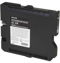 Ricoh 405532 Black Ink Print Cartridge Type GC21K