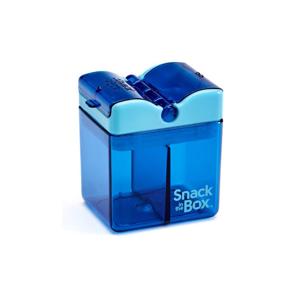 Precidio Design 1001BL Snack in the Box NEW Little Finger-Friendly Eco-Friendly Reusable Snack Box Container (Blue)