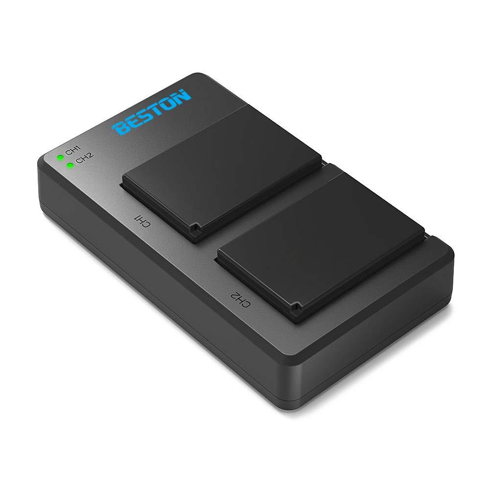BESTON 2-Pack NP-W126/ NP-W126S Li-ion Battery Packs and Rapid USB Charger for Fujifilm X100F XT3 XT2 XT1 XT30 XT20 XT10 XT100 XA5 XE3 X-H1 X-M1 X-Pro2 X-Pro1 Cameras and More