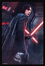 "Trends International Star Wars: The Last Jedi - Kylo, 22.375"" x 34"", Black Framed Version"