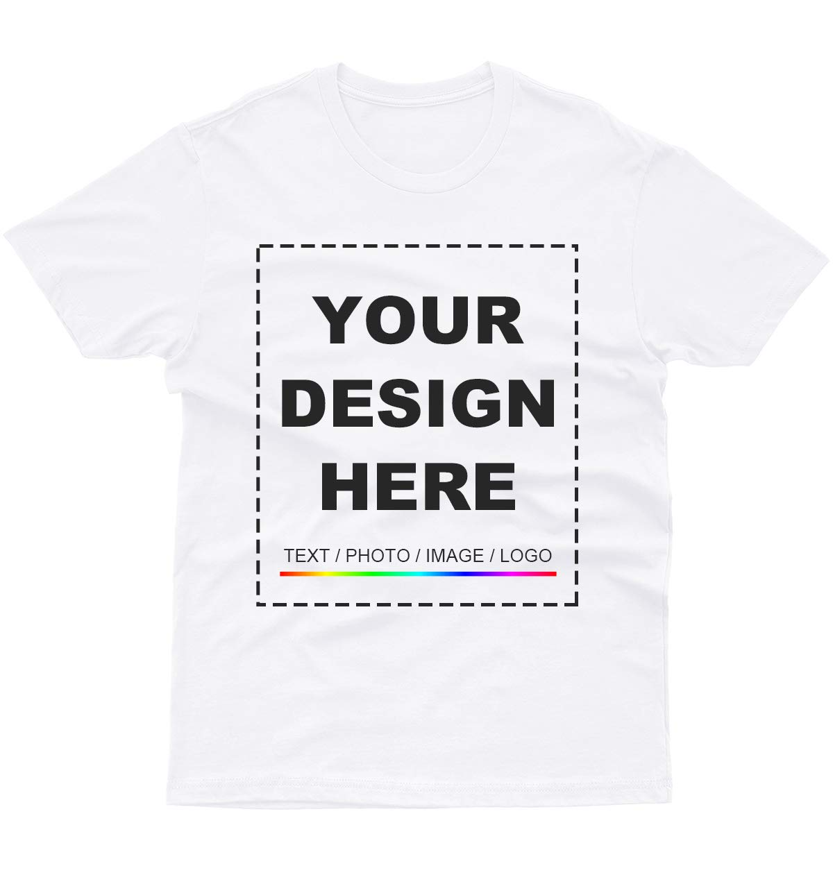 Custom T Shirt Design Your Own 2 Sided Front Back Tee Men/Women Printed Logo Picture Shirt