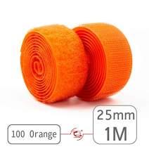 """25mm(1"""") Width 1 Pair Meters Sew-On Hook&Loop Fastener Tape for 12 Colors (#100 Orange)"""