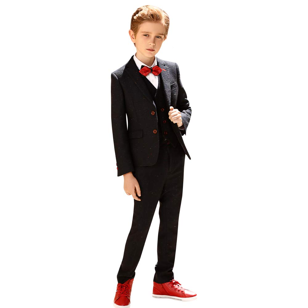 ELPA ELPA Boys Fasion Suits Children's Wave Point Slim Fit Suit 6 Pieces for Festival Show Performance