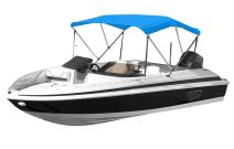 "Eevelle Sunset 3 Bow Boat Bimini Top Cover Includes 600D Canvas, 1"" Aluminum Frame, Hardware, Straps and Storage Boot, 46""High"